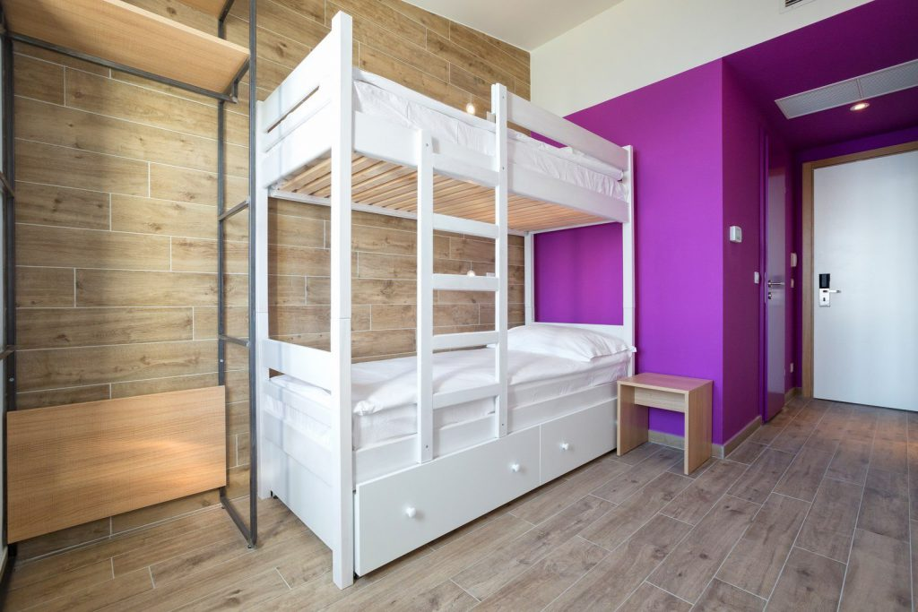 Hostel Link - Twin Room with Bunk Beds - Sea View