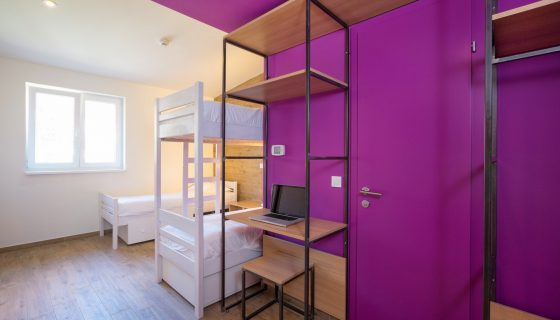 Hostel Link - Triple Room with Bunk Beds 16 m² Sea View