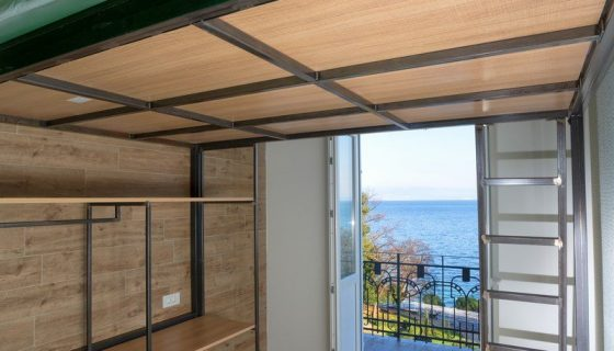 Hostel Link - Double Room with King Size Bunk Bed 14 m² Sea View